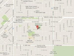 Whittier Neighborhood Map | Denver Homes For Sale
