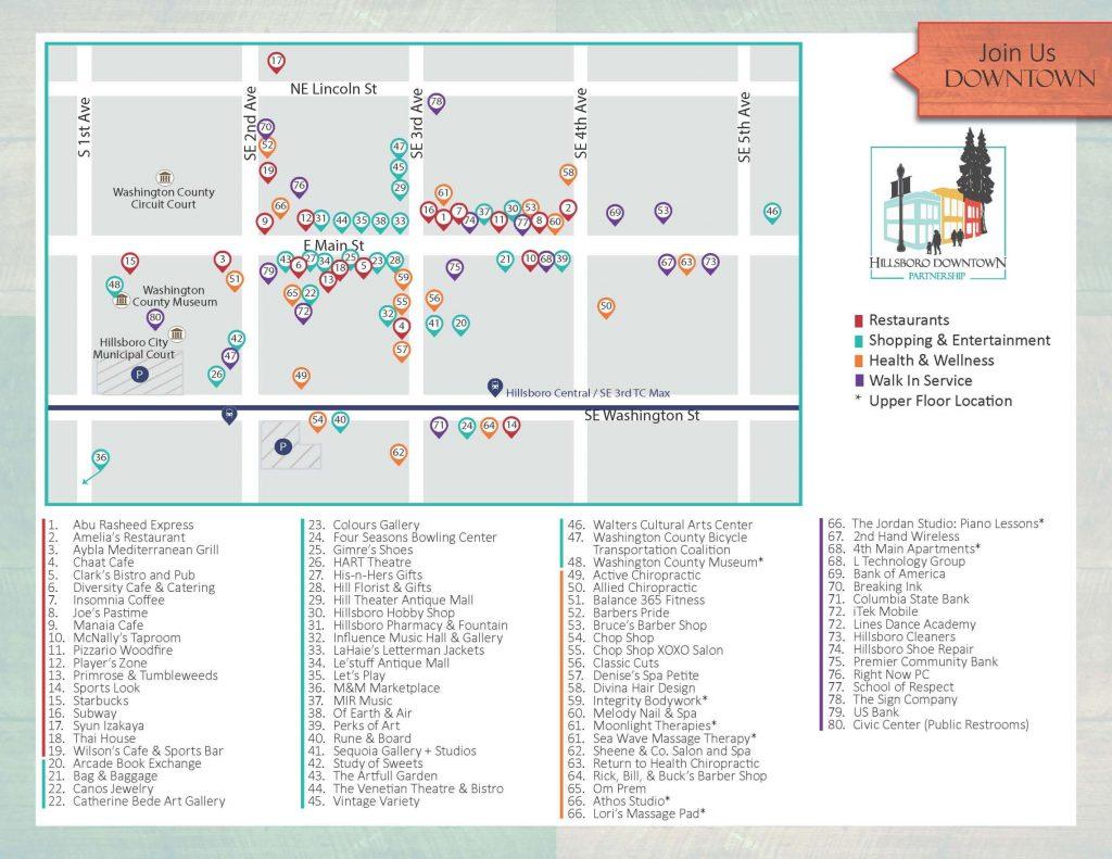 Downtown Hillsboro Map - Historic Downtown Hillsboro Homes For Sale