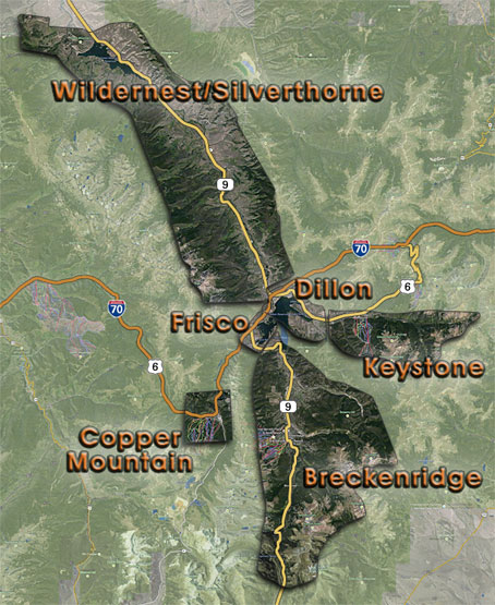 Summit County Colorado Map