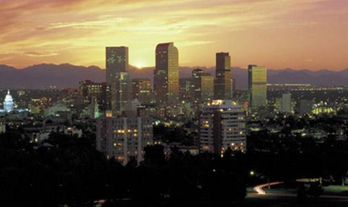 Evening skyline Denvers Real Estate Market is Improving