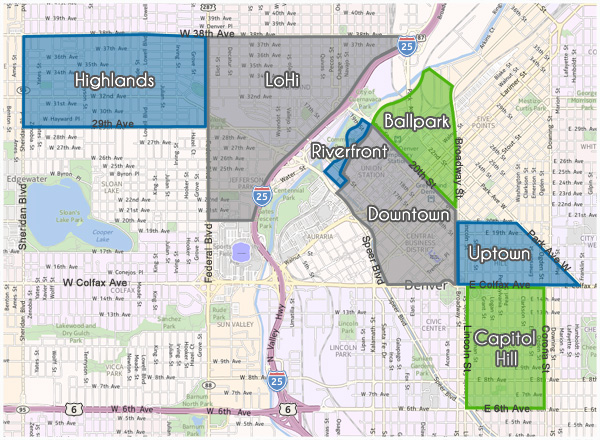 Denver Loft Map