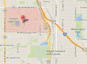 Athmar Park Denver Neighborhood Map 300x224 South Platte River Denver Neighborhoods: Ruby Hill, Athmar Park, Overland