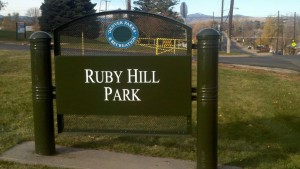 Ruby Hill Neighborhood Denver Park Sign