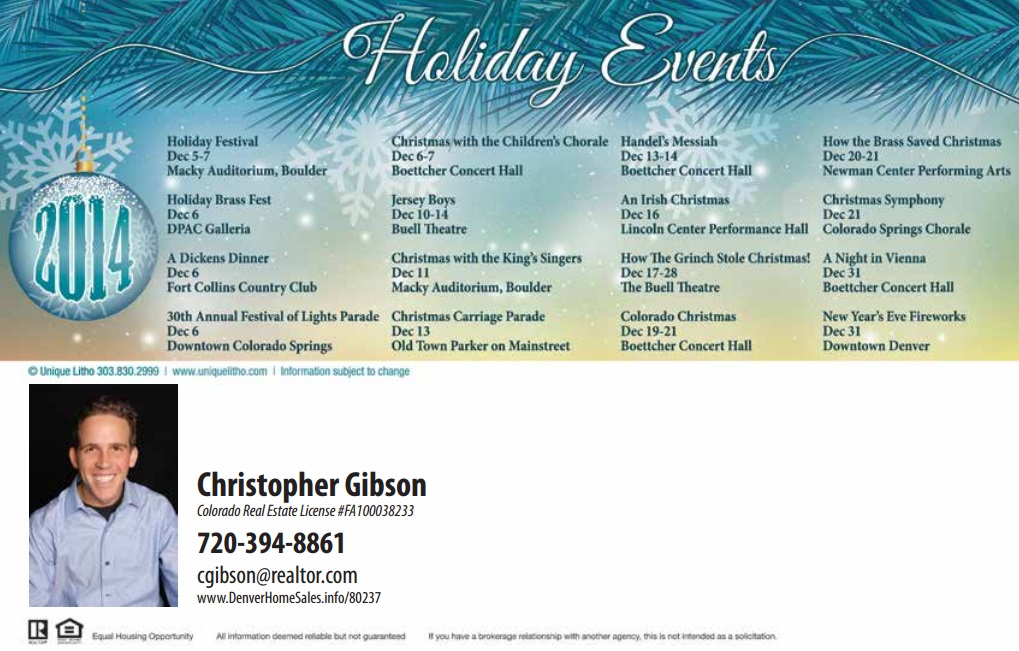 Denver Realtor 2015 Holiday Events Schedule Part 2