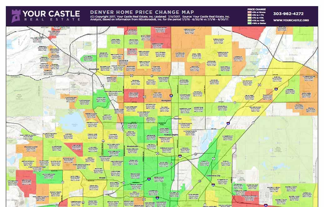 denver home price change map Map Download