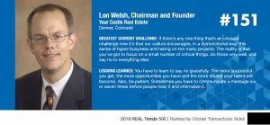Your Castle Real Estate Awarded Twice in REAL Trends Top 500