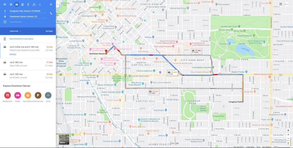Congress Park neighborhood commute