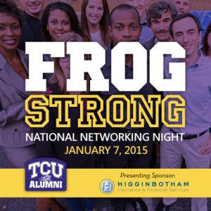 TCU Networking Event in Denver – Tomorrow, Wed 1/7/15