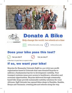 Donate Used Bikes to Bikes for Humanity
