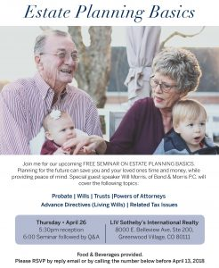 Join Us for Estate Planning Basics Seminar