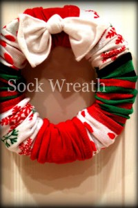 Sock Wreath Gifts
