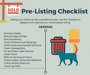 Pre-Listing Checklist for Home Sellers – Infographic