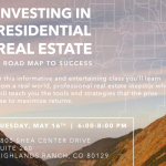 FREE CLASS on Investing in Residential Real Estate