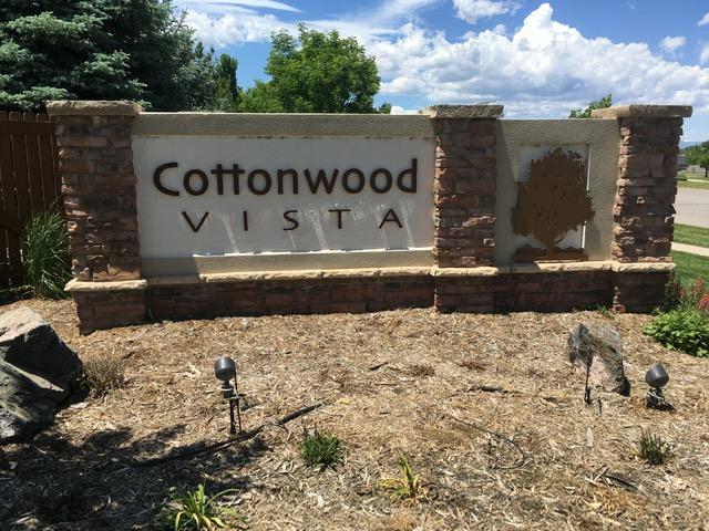Neighborhood sign for Cottonwood Vista - Erie Neighborhood Information