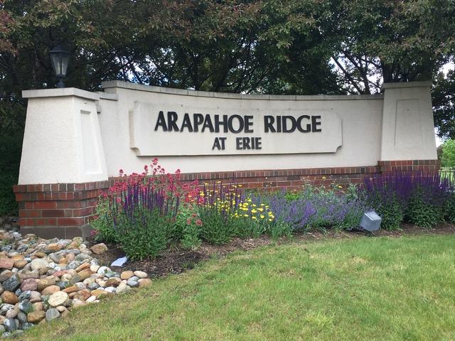 Neighborhood sign for Arapahoe Ridge - Erie Neighborhood Information