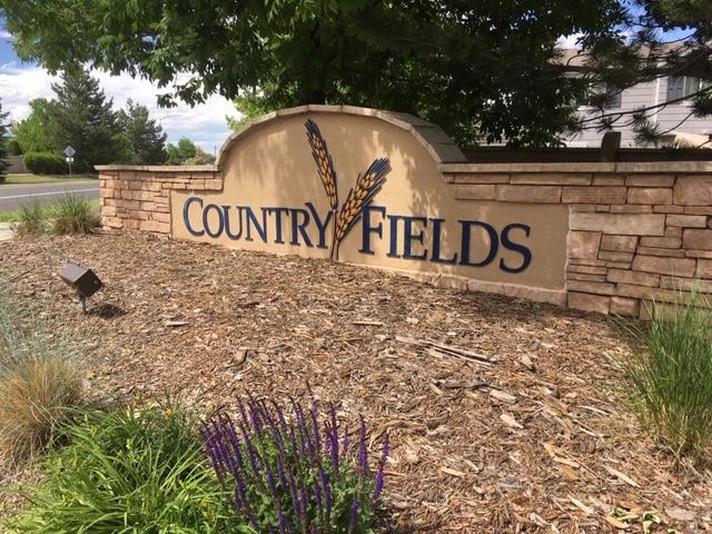 Country Fields neighborhood sign - Erie Neighborhood Information
