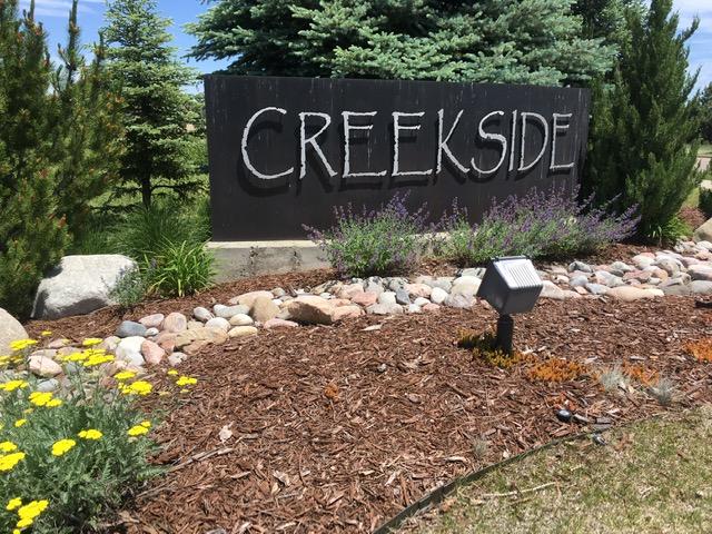 Neighborhood sign for Creekside - Erie Neighborhood Information