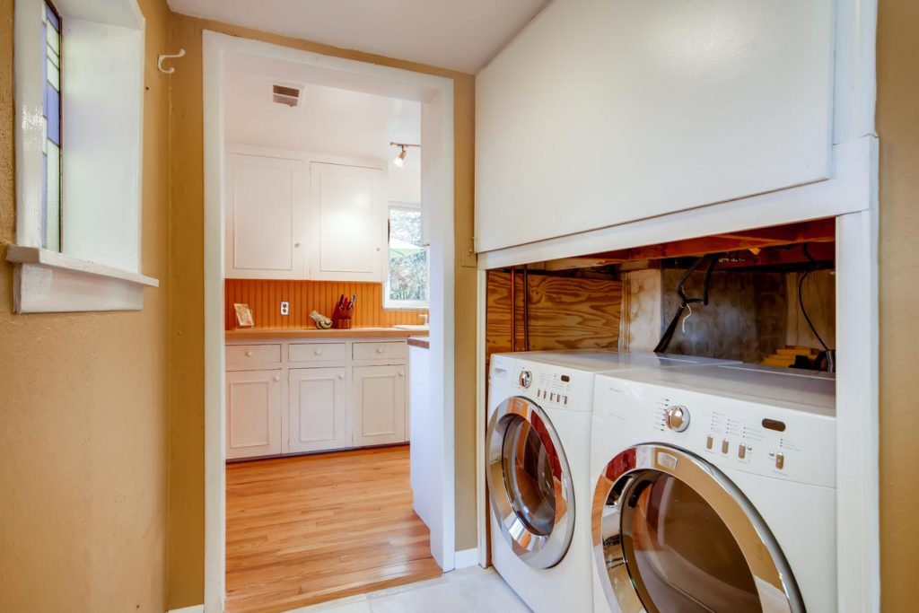 Laundry room of the Mayfair house