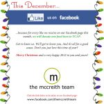 "Like Us on Facebook! This December we donate to YCAP for every ""Like"" we receive."