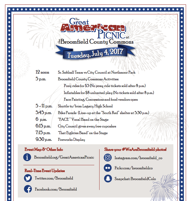 Screen Shot 2017 06 15 at 1.53.41 PM July 4th Broomfield Commons Event Schedule