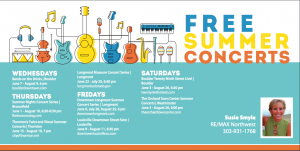 Free Concerts this Summer!