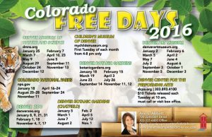 Colorado Free Days 2016!