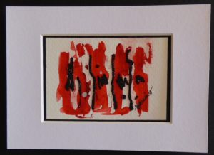 Boccacino Red Black Mat Only 300x218 March First Friday Affordable Art Sale