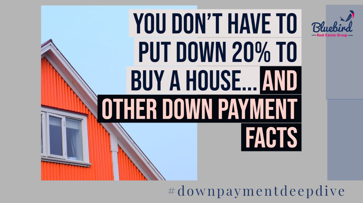 You don't need a 20% down payment to buy a house