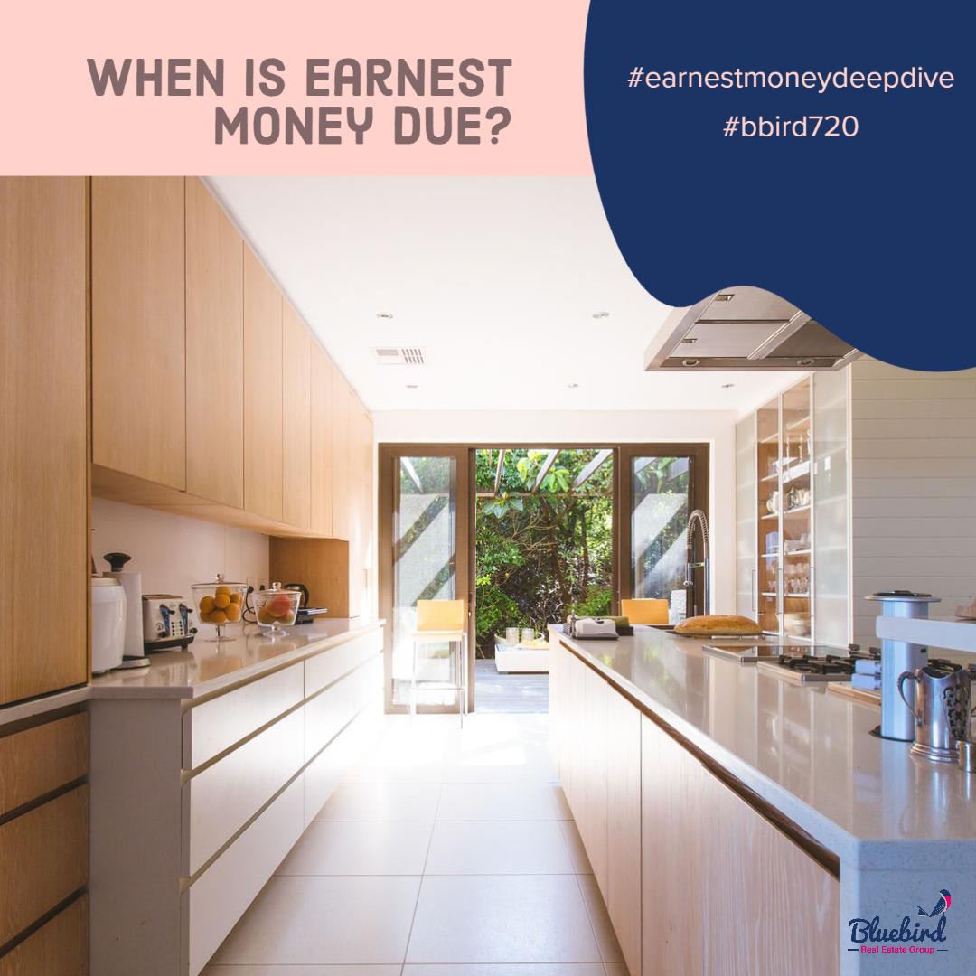 When is earnest money due?