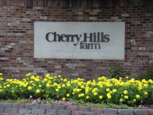 Sign for Cherry Hills Farm