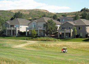 Golf course and homes at Plum Creek Golf Community
