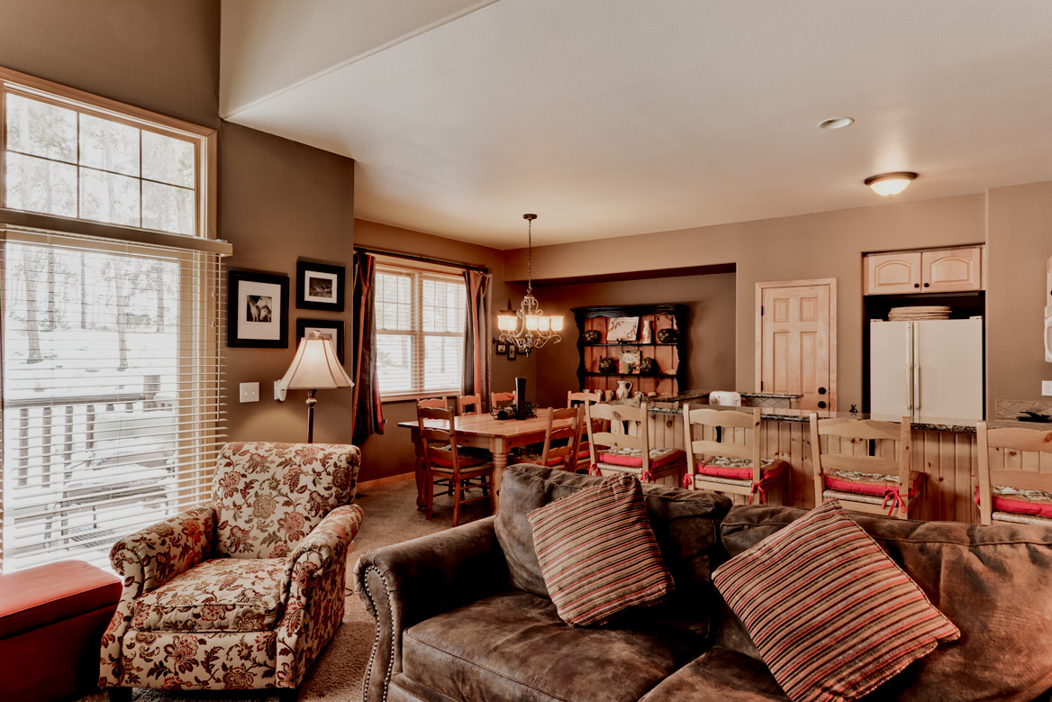 GreatRoomToDiningLowRes Northstar Townhomes Keystone Real Estate for sale