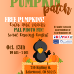 Pumpkin Patch Event!