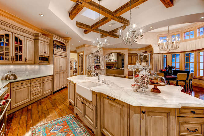 14 Sandy Lake Road Englewood small 018 13 Kitchen 666x444 72dpi Stunning French Country Luxury