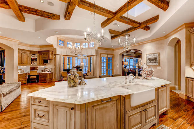 14 Sandy Lake Road Englewood small 019 27 Kitchen 666x444 72dpi Stunning French Country Luxury