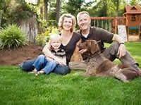 website happy family w dog Testimonials