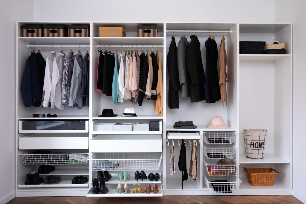 home organization in the closet