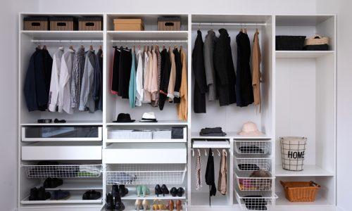 home organization in the closet