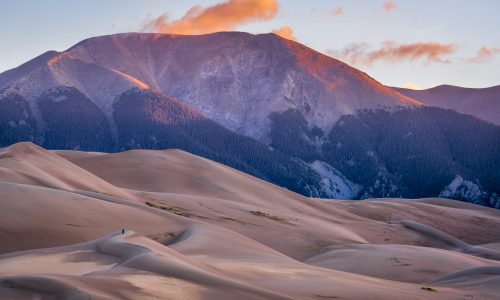 Sand dunes at the Great Sand Dunes National Park