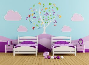 Colorful bedrooom for girl