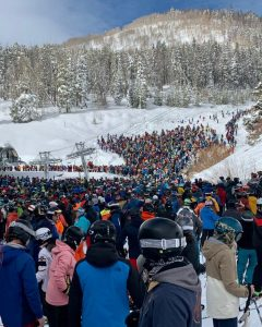large ski lift line in vail