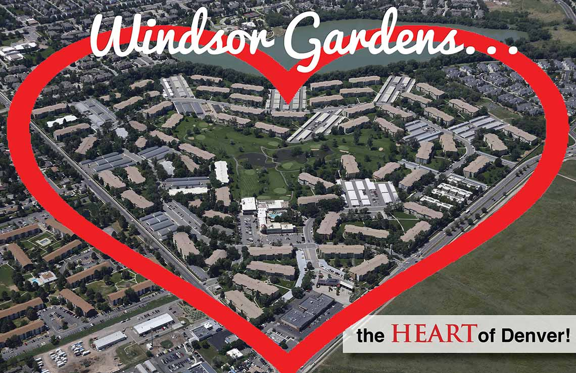 Windsor Gardens aerial view