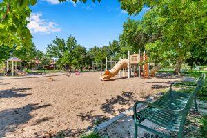 Playground at Alamo Placita Park in Denver Colorado